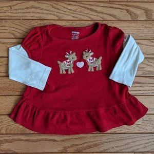Gymboree Reindeer Winter Top Shirt
